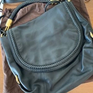 Michael Cors Collection Leather Saddle Bag